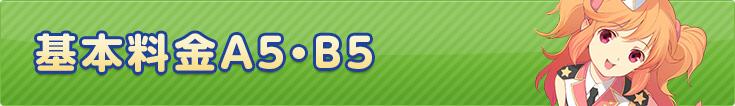 基本料金A5・B5