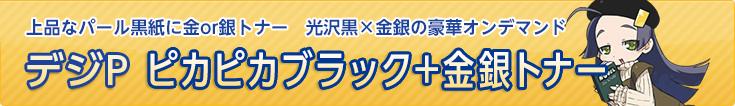 デジP ピカピカブラック+金銀トナーセット